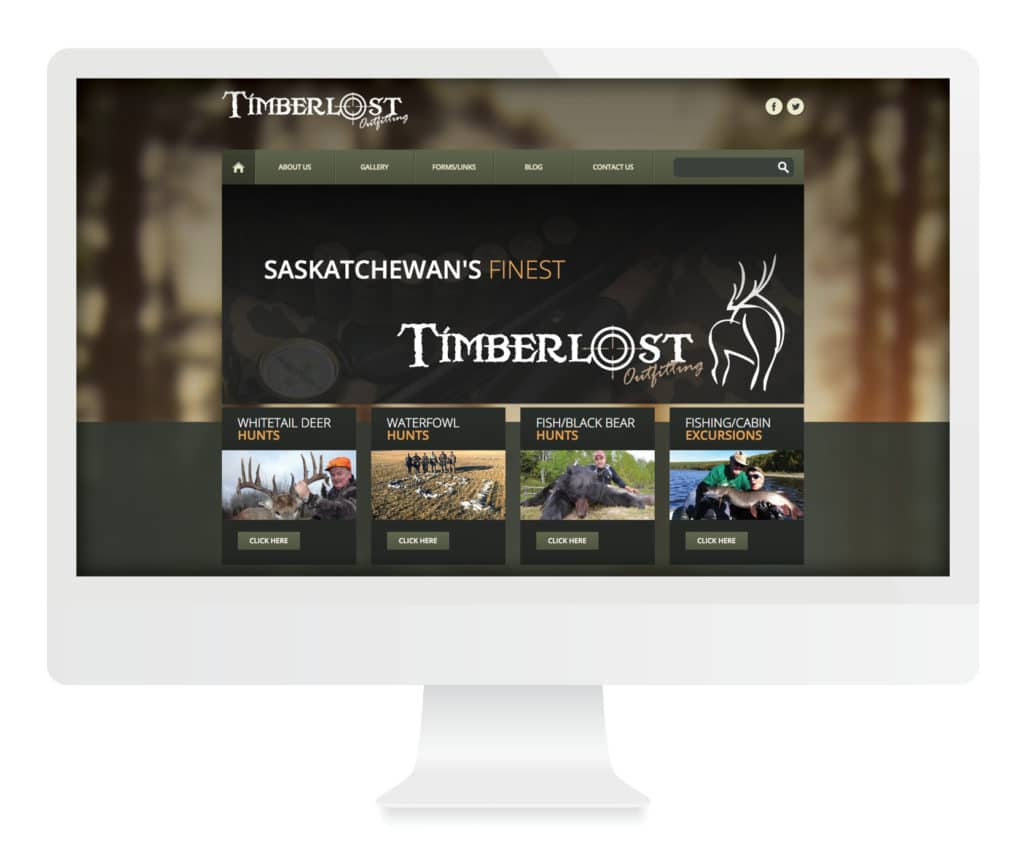 SG New Media Design - Timberlost Outfitting